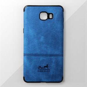 Ốp lưng Samsung Galaxy C9 Pro vân vải bố Ivan Klot (Xanh)