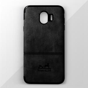 Ốp lưng Samsung Galaxy J4 2018 vân vải bố Ivan Klot (Đen)