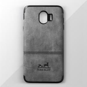 Ốp lưng Samsung Galaxy J4 2018 vân vải bố Ivan Klot (Xám)