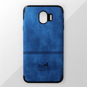 Ốp lưng Samsung Galaxy J4 2018 vân vải bố Ivan Klot (Xanh)