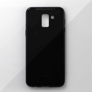 Ốp lưng Samsung Galaxy J6 2018 tráng gương viền dẻo (Đen)