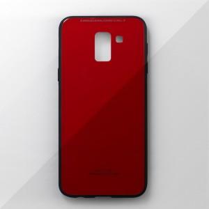 Ốp lưng Samsung Galaxy J6 2018 tráng gương viền dẻo (Đỏ)