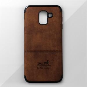 Ốp lưng Samsung Galaxy J6 2018 vân vải bố Ivan Klot (Vàng)