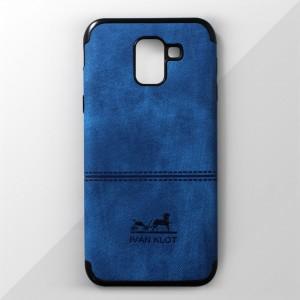 Ốp lưng Samsung Galaxy J6 2018 vân vải bố Ivan Klot (Xanh)