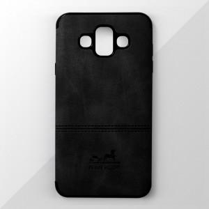 Ốp lưng Samsung Galaxy J7 Duo vân vải bố Ivan Klot (Đen)