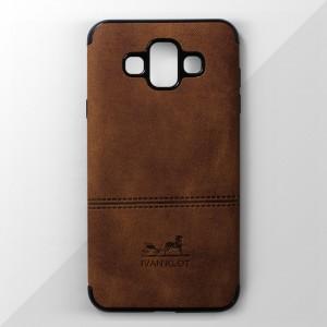 Ốp lưng Samsung Galaxy J7 Duo vân vải bố Ivan Klot (Vàng)