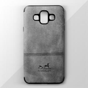 Ốp lưng Samsung Galaxy J7 Duo vân vải bố Ivan Klot (Xám)