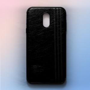 Ốp lưng da Samsung Galaxy J7 Plus khắc hình Burberry (Đen)