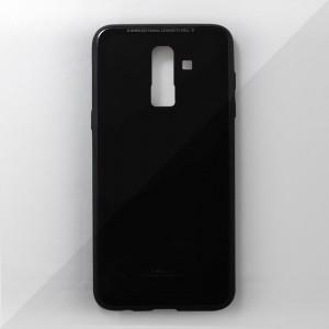 Ốp lưng Samsung Galaxy J8 2018 tráng gương viền dẻo (Đen)