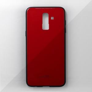 Ốp lưng Samsung Galaxy J8 2018 tráng gương viền dẻo (Đỏ)