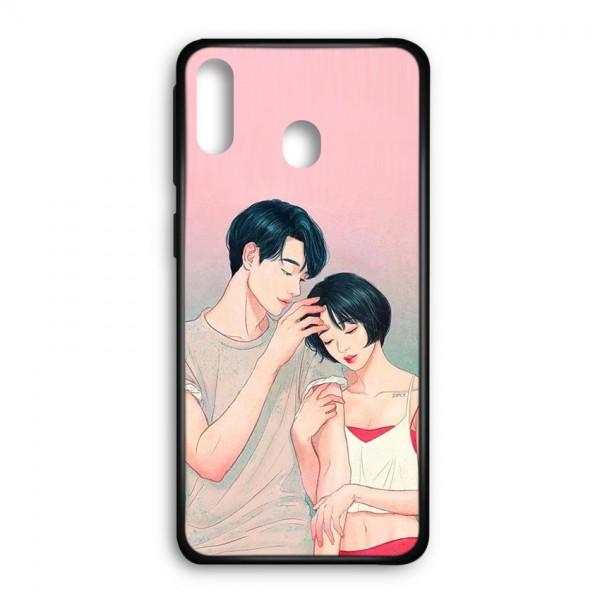 Ốp lưng kính in hình cho Samsung Galaxy M20 Valentine (mẫu 49) - Hàng chính hãng