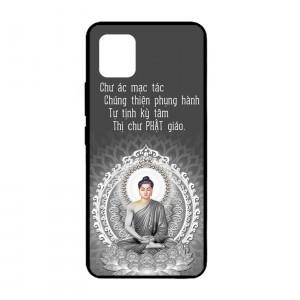 Ốp lưng kính in hình cho Samsung Galaxy Note 10 Lite, A81, M60S hình Phật (mẫu 8) - Hàng chính hãng