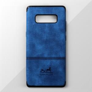 Ốp lưng Samsung Galaxy Note 8 vân vải bố Ivan Klot (Xanh)