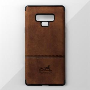 Ốp lưng Samsung Galaxy Note 9 vân vải bố Ivan Klot (Vàng)