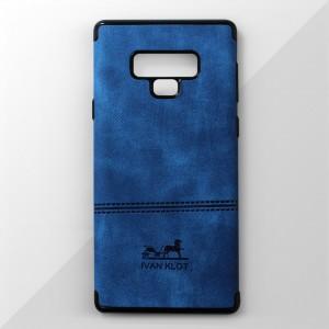 Ốp lưng Samsung Galaxy Note 9 vân vải bố Ivan Klot (Xanh)