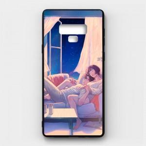 Ốp lưng kính in hình cho Samsung Galaxy Note 9 Valentine (mẫu 11) - Hàng chính hãng
