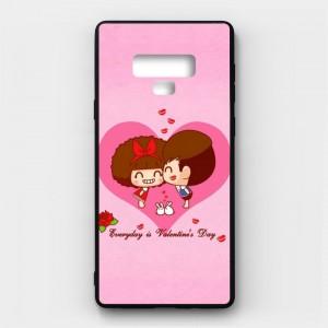 Ốp lưng kính in hình cho Samsung Galaxy Note 9 Valentine (mẫu 19) - Hàng chính hãng