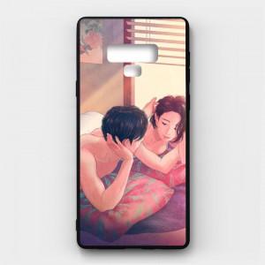 Ốp lưng kính in hình cho Samsung Galaxy Note 9 Valentine (mẫu 21) - Hàng chính hãng