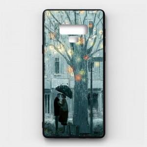 Ốp lưng kính in hình cho Samsung Galaxy Note 9 Valentine (mẫu 26) - Hàng chính hãng