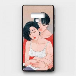 Ốp lưng kính in hình cho Samsung Galaxy Note 9 Valentine (mẫu 27) - Hàng chính hãng