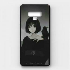 Ốp lưng kính in hình cho Samsung Galaxy Note 9 Valentine (mẫu 35) - Hàng chính hãng