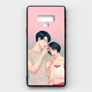 Ốp lưng kính in hình cho Samsung Galaxy Note 9 Valentine (mẫu 49) - Hàng chính hãng
