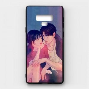 Ốp lưng kính in hình cho Samsung Galaxy Note 9 Valentine (mẫu 54) - Hàng chính hãng
