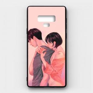 Ốp lưng kính in hình cho Samsung Galaxy Note 9 Valentine (mẫu 56) - Hàng chính hãng