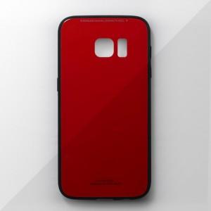 Ốp lưng Samsung Galaxy S7 tráng gương viền dẻo (Đỏ)