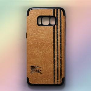Ốp lưng da Samsung Galaxy S8 Plus khắc hình Burberry (Vàng)
