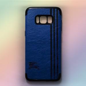 Ốp lưng da Samsung Galaxy S8 Plus khắc hình Burberry (Xanh)