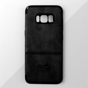 Ốp lưng Samsung Galaxy S8 Plus vân vải bố Ivan Klot (Đen)