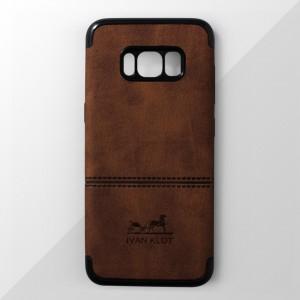 Ốp lưng Samsung Galaxy S8 Plus vân vải bố Ivan Klot (Vàng)