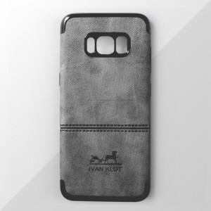 Ốp lưng Samsung Galaxy S8 Plus vân vải bố Ivan Klot (Xám)