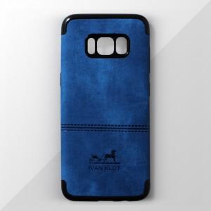 Ốp lưng Samsung Galaxy S8 Plus vân vải bố Ivan Klot (Xanh)