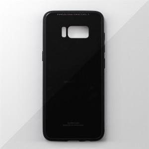 Ốp lưng Samsung Galaxy S8 Plus tráng gương viền dẻo (Đen)