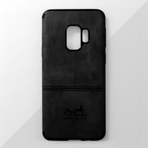 Ốp lưng Samsung Galaxy S9 vân vải bố Ivan Klot (Đen)