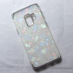 Ốp lưng Samsung Galaxy S9 vân đá (Bạc)