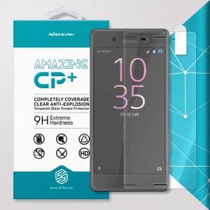 Miếng dán cường lực Sony Xperia X F5122 hiệu Nillkin Full Keo viền (trong suốt)