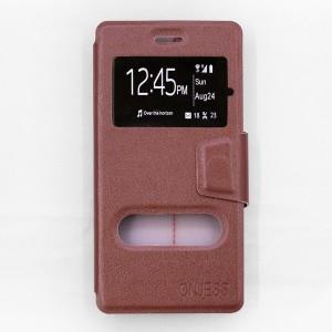 Bao da Sony Xperia X F5122 hiệu OnJess (Nâu) - Case dẻo