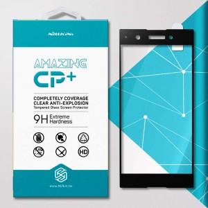Miếng dán cường lực Sony Xperia XA1 Plus hiệu Nillkin Full (Đen)