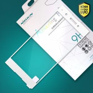 Miếng dán cường lực Sony Xperia XA1 Plus hiệu Nillkin Full màn hình (Trắng)