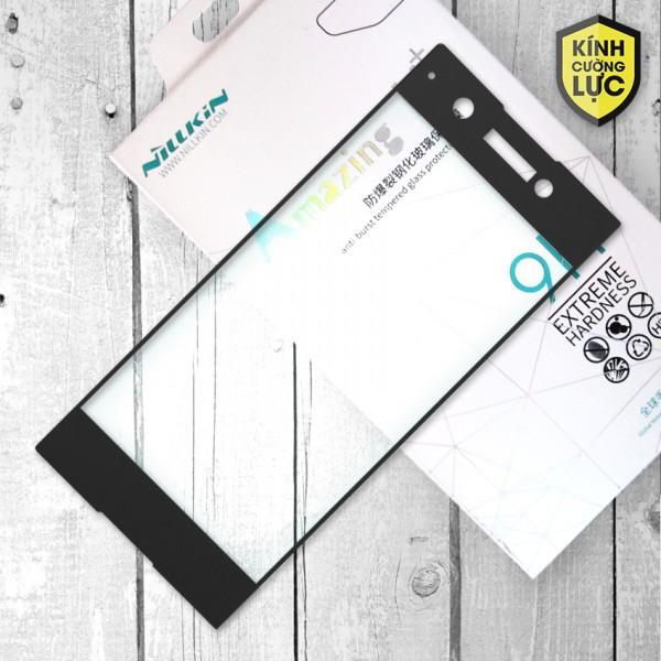 Miếng dán cường lực Sony Xperia XA1 hiệu Nillkin Full màn hình (Đen)