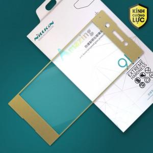 Miếng dán cường lực Sony Xperia XA1 hiệu Nillkin Full màn hình (Vàng)