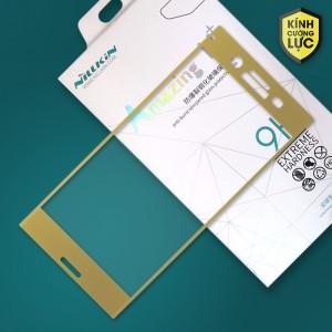 Miếng dán cường lực Sony Xperia XZ Premium hiệu Nillkin Full màn hình (Vàng)
