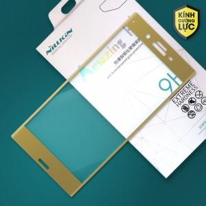 Miếng dán cường lực Sony Xperia XZ Dual hiệu Nillkin Full màn hình (Vàng)