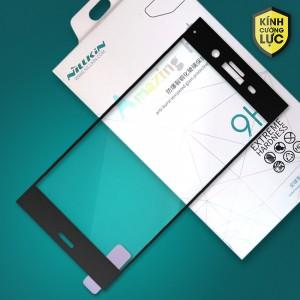 Miếng dán cường lực Sony Xperia XZ1 hiệu Nillkin Full màn hình (Đen)
