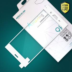Miếng dán cường lực Sony Xperia XZ1 hiệu Nillkin Full màn hình (Trắng)