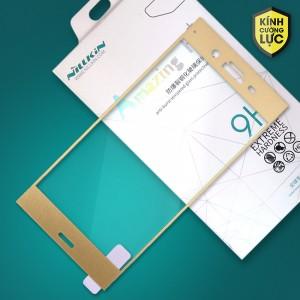 Miếng dán cường lực Sony Xperia XZ1 hiệu Nillkin Full màn hình (Vàng)