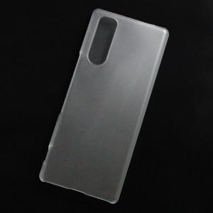 Ốp lưng nhựa cứng Sony Xperia 5 nhám trong